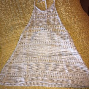 American Eagle crochet halter top